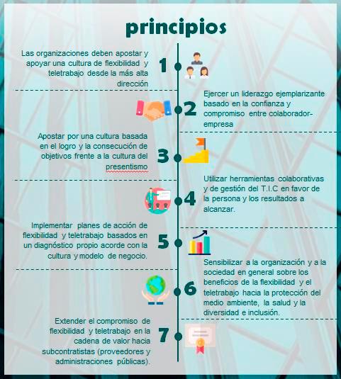 Principios del teletrabajo