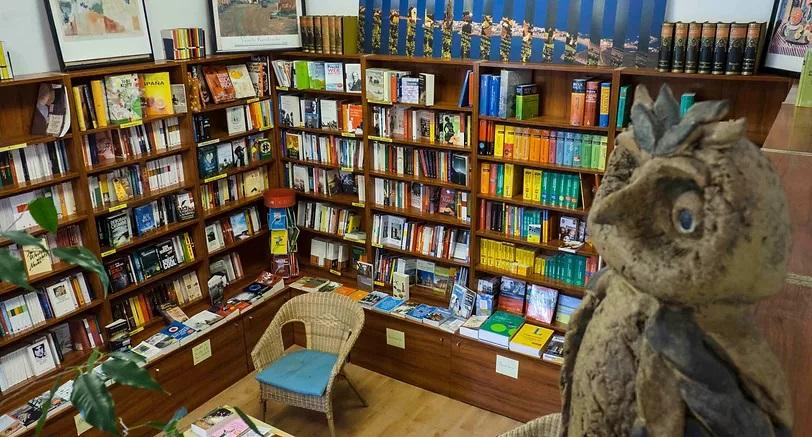 Interior librería alemana Auryn